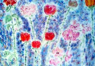 impressionist floral, scottsdale art gallery, floral art ins cottsdale Monet