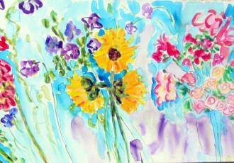 floral, impressionist, still life, contemporary impressionism