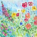 spring flowers, impressionist flowers