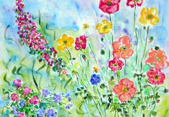 spring flowers, impressionist flowers