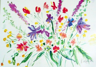 impressionist art, floral