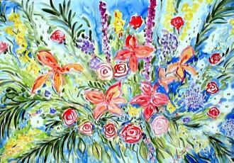 floral art, impressionist art