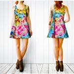 fashion, dress, floral