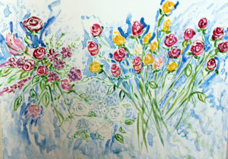 floral art, impressionism