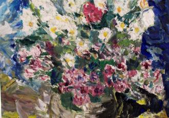 still life floral painting